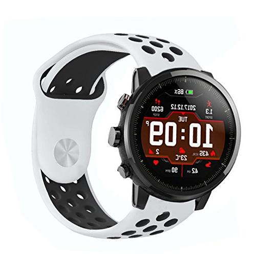 For Lamshaw Silicone Straps for Stratos Multisport GPS