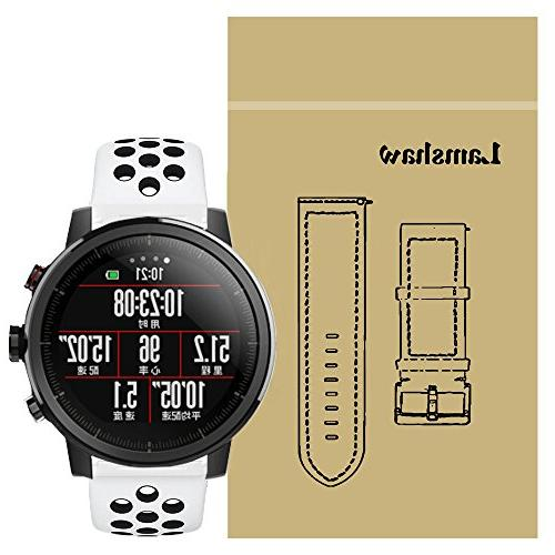For Amazfit Stratos Band, Lamshaw Silicone Sport Band with V