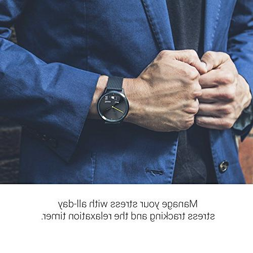 Garmin 010-01850-12 vívomove Hybrid for and Gold Band
