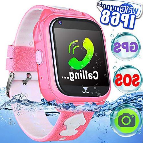 IP68 Waterproof Kid Smart Watch Phone GPS Tracker Smartwatch