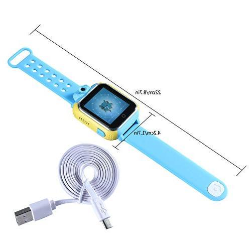 KOBWA Updated GPS Tracker Kids Smartwatch Wrist Watch SOS WCDMA Children Control for Dual Core