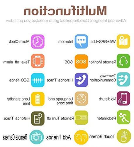 KOBWA GPS Tracker Kids Smartwatch Watch Phone Anti-lost SOS WCDMA Bracelet Control for Apple Iphone IOS
