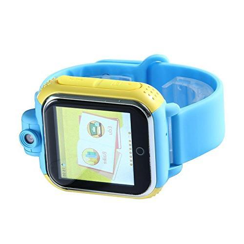 KOBWA GPS Kids Sim Watch Phone WCDMA Bracelet Control Iphone IOS Smartphone Dual