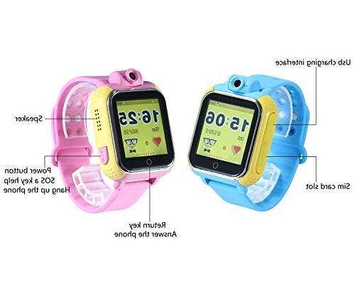 KOBWA Updated GPS Tracker Kids Watch SOS WCDMA IOS Dual Core