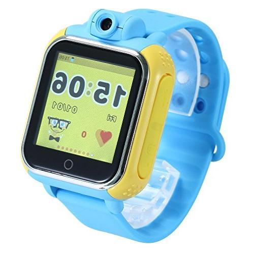 KOBWA Updated GPS Tracker Kids Smartwatch Wrist Sim Watch Ph