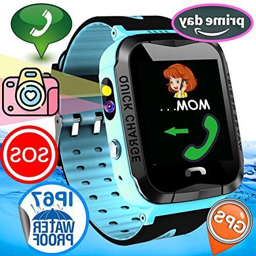 76187cc1a Kid Smart Watch Phone GPS Tracker IP67 Waterproof Fitness Tr
