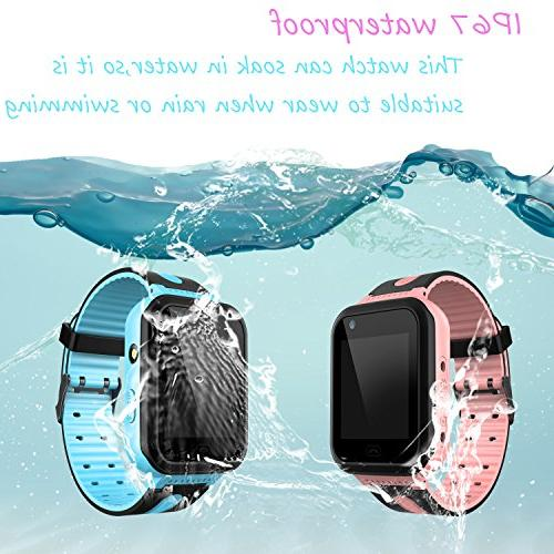 Kids Smart GPS Tracker Watch Phone Watch SOS Camera Flashlight Phone for Age Boys Girls with iOS Android