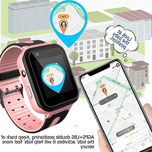 Kids Smart GPS Watch Watch Camera Phone for Boys Android