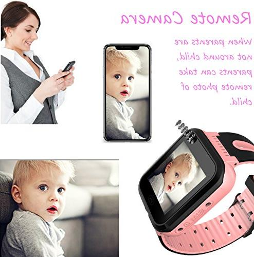 Kids Smart GPS Child Watch Phone Digital Watch Alarm Clock Camera Flashlight Phone for Children Boys Android