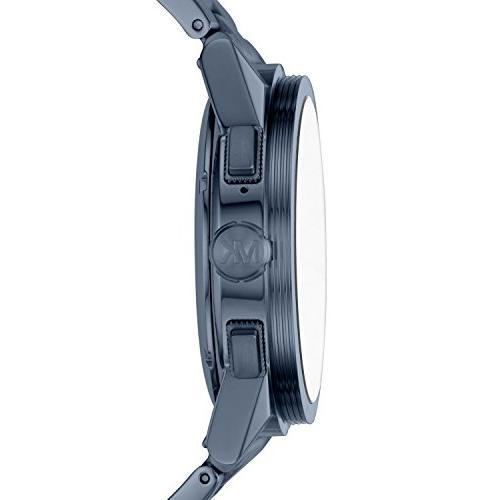 Michael Kors Smartwatch, Grayson Navy-Tone Stainless Steel,