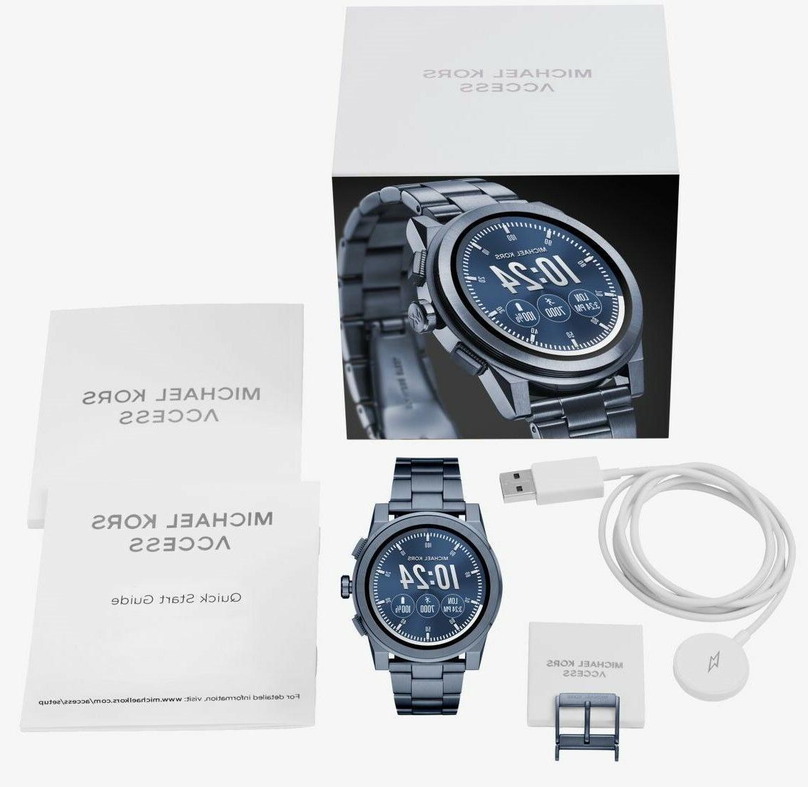 Michael Kors Access, Men's Smartwatch, Grayson Navy-Tone S