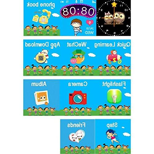 SODIAL Kids Smartwatch, 1.44 Smart Bracelet For Children Gifts Camera Compatible for iPhone