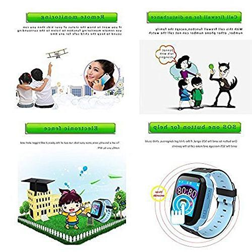 SODIAL 1.44 inch Smart Watch Bracelet For Children Camera Pedometer Compatible for