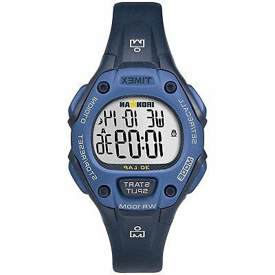 "Timex TW5M14100,  Women's ""Ironman"" 30-Lap Blue Resin Watch,"