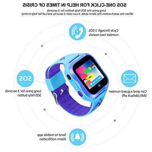 Waterproof Watch Smart for Kids Accurate GPS Tracker SOS and Pedometer with Camera Electronic Learning Toys Girls Best Birthday Gift