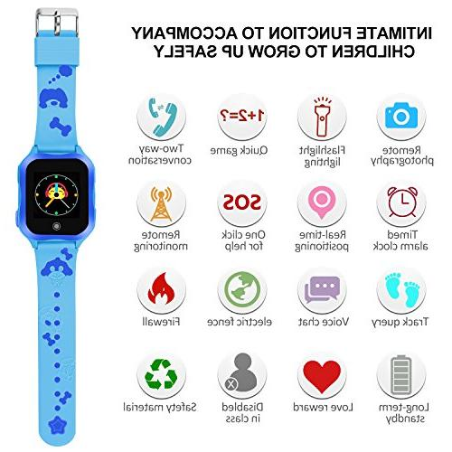 Waterproof Watch for Phone Accurate GPS Tracker with SOS Camera Game Watch Electronic Girls Best