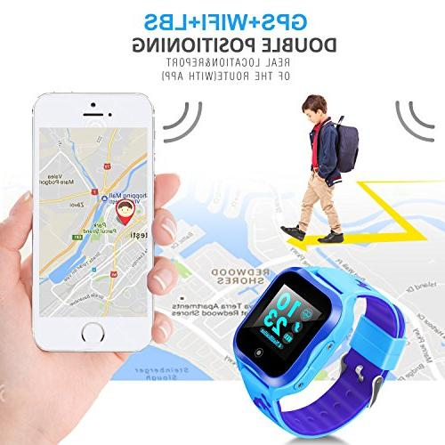 Waterproof Watch Smart for Phone Watch Accurate GPS Tracker SOS and Pedometer with Camera Watch Children Electronic Toys Girls Best