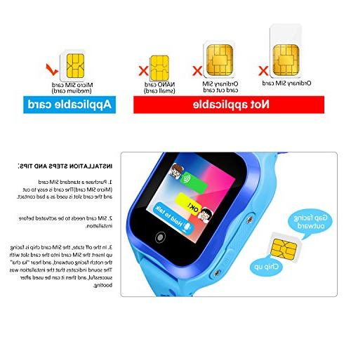 Waterproof Watch for Kids Phone Watch Accurate GPS Tracker with SOS and Camera Game Watch Children Electronic Learning Toys Boys Girls Gift