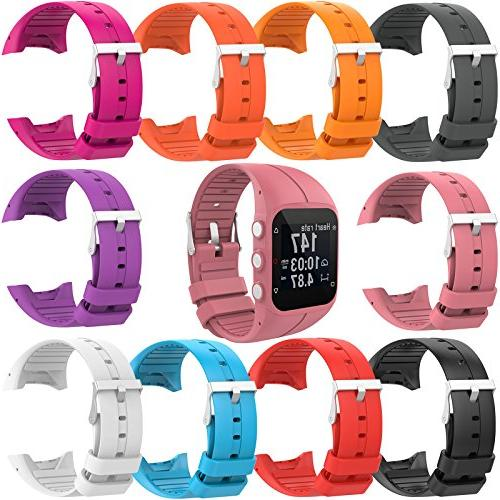 XBERSTAR Replacement Silicone Wristband Rubber Polar Running Sports Watch