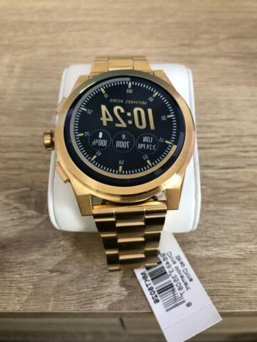 access grayson gold tone touchscreen smartwatch mkt5026
