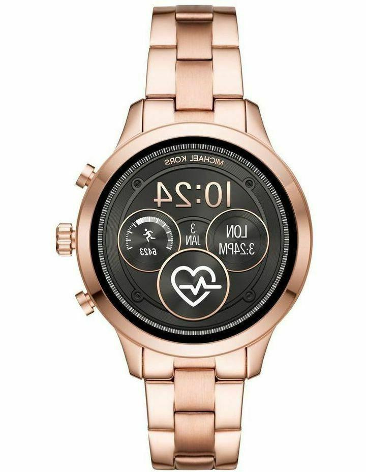 access rose gold touch screen runway smartwatch