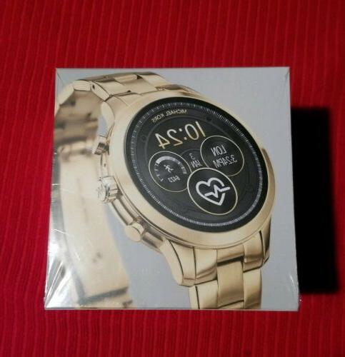 access runway stainless steel smartwatch color gold