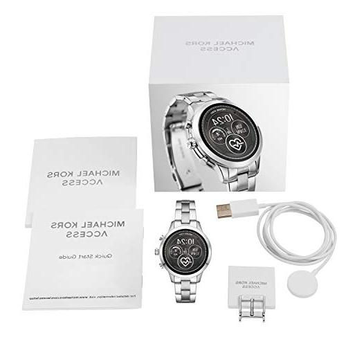 Michael Runway Stainless Smartwatch, Silver