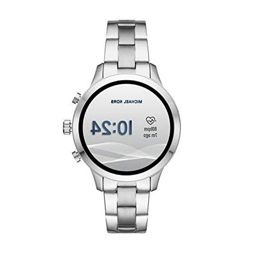 Michael Access Stainless Smartwatch, Silver Tone