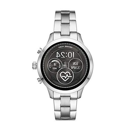 access runway stainless steel smartwatch color silver
