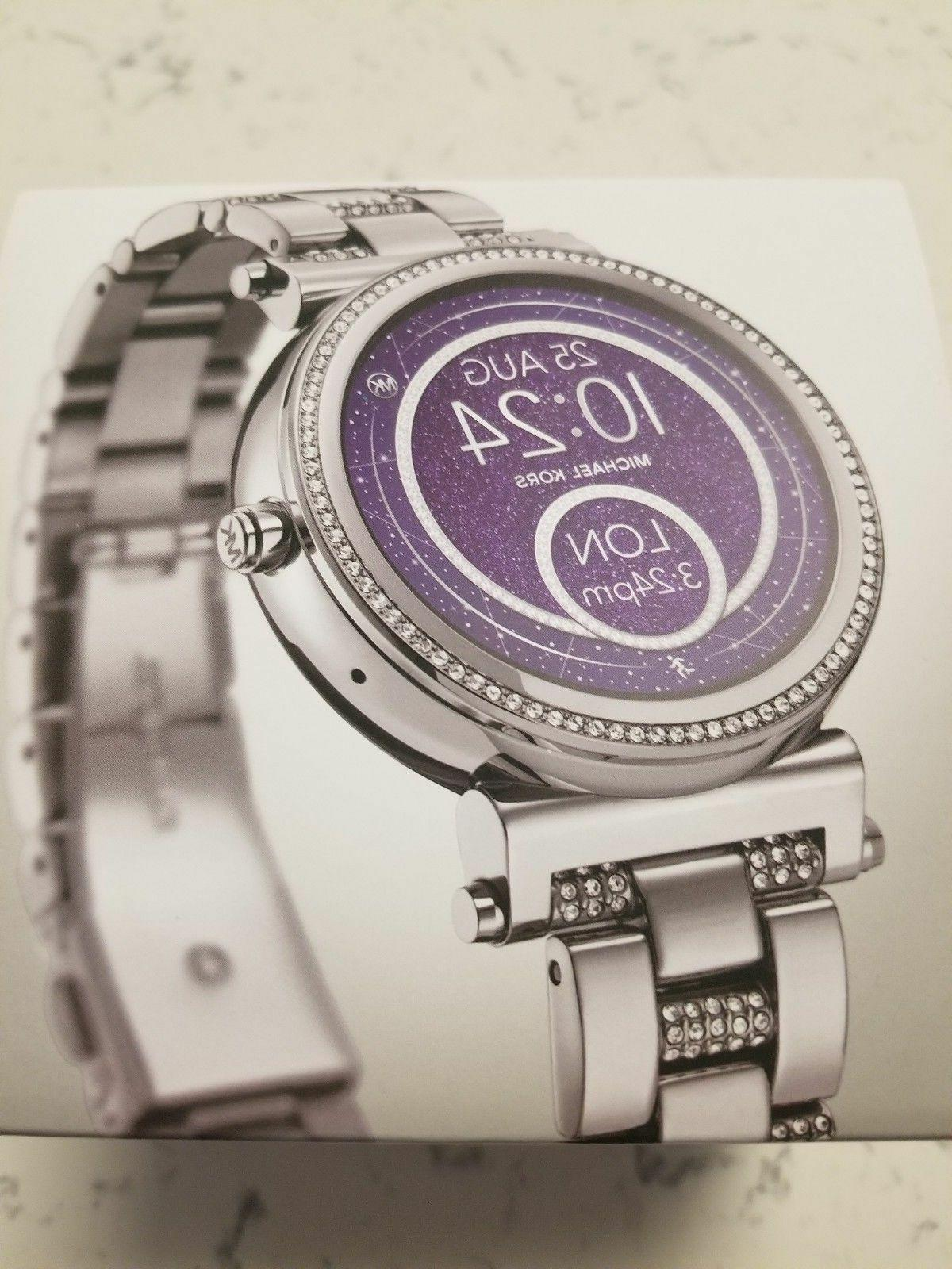 access womens smartwatch sofie stainless steel mkt5036