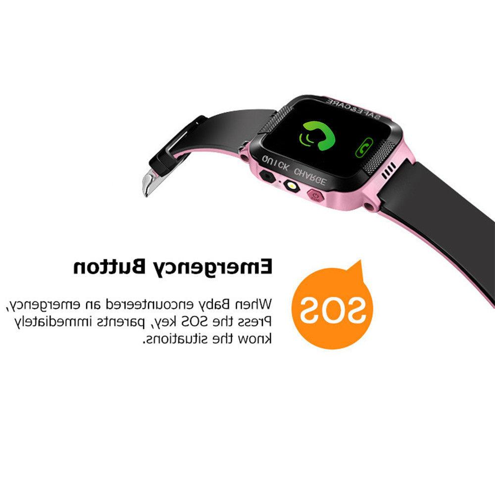 Anti-lost Kids Tracker SOS Call Smart Watch Phone For Android IOS