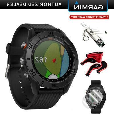 Garmin S60 Watch Black with Black Bundle