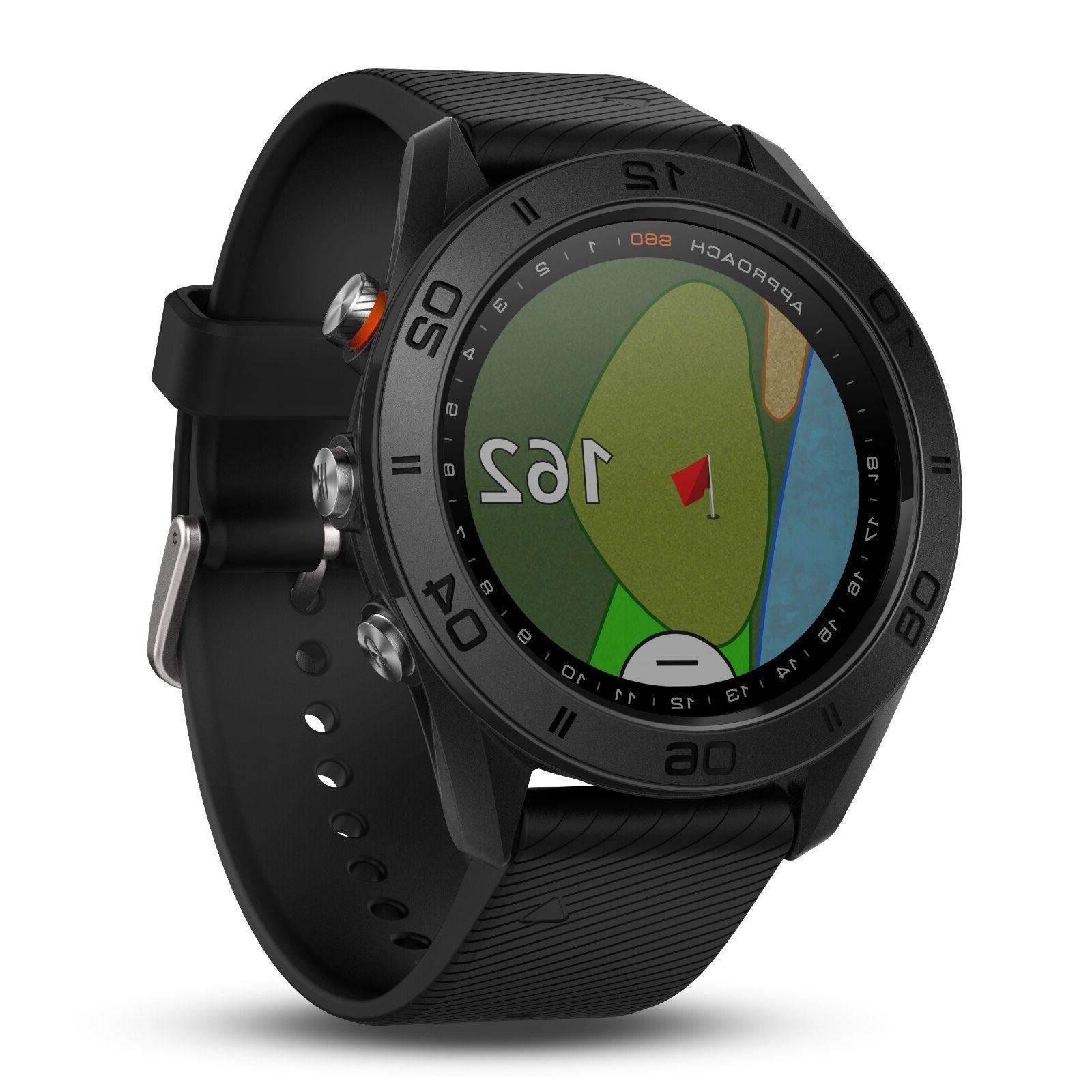 Garmin Approach S60 GPS Golf Watch Black with Black Silicone