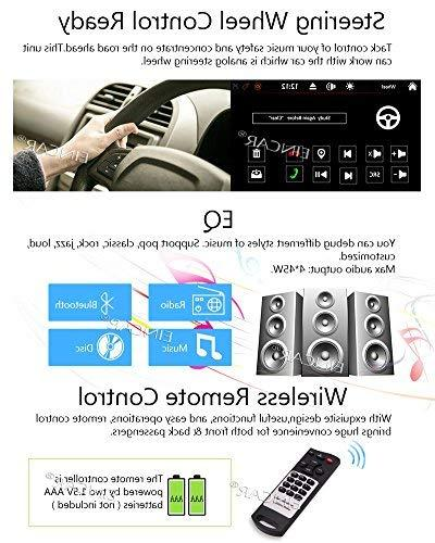 FREE Backup Camera + NEW Design Din Stereo Player Bluetooth 2 Din Capacitive Touch Screen support USB SD 1080P SWC Car Logo Multi Language Control