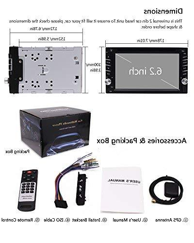 FREE Backup + Design Double Din Stereo Player Navigation Radio Touch support SD SWC Logo Control