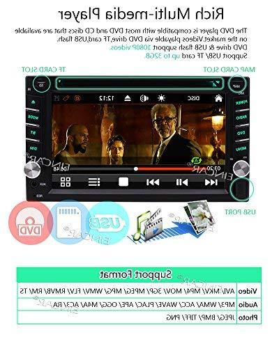 FREE + NEW Double Din Car Stereo Player GPS Touch Screen SD 1080P Logo Language Remote Control