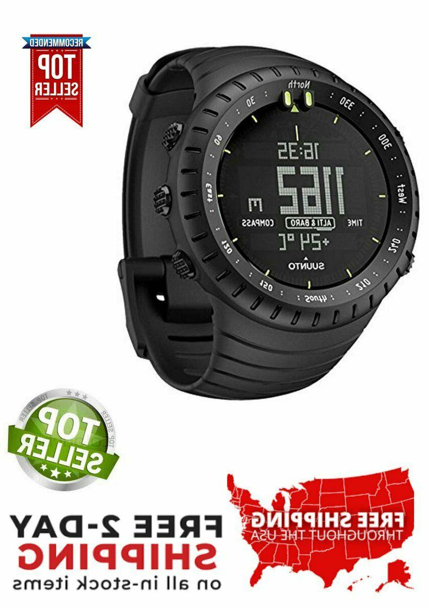 core all black military sports watches