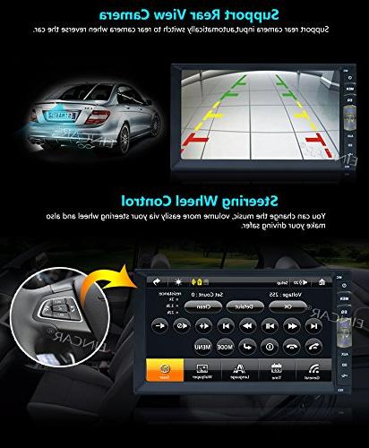 Double Stereo Touchscreen with Rear Camera Player Touchscreen Aux Input Audio+Wireless Backup