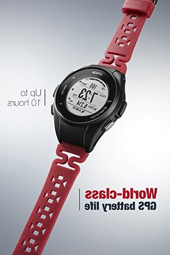 Epson E11E222042 GPS Watch with Heart from Wrist - Red