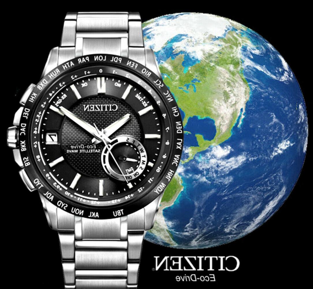 Citizen Eco CC3005-85E Satellite Wave World GPS Black Mens