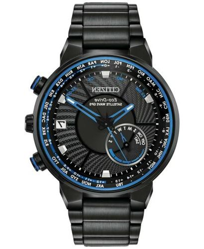 eco drive men s satellite waveworld time