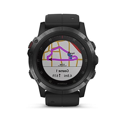 Garmin Plus - Multisport smartwatch with Music, GPS, and Sapphire, with Black Band, 010-01988-00