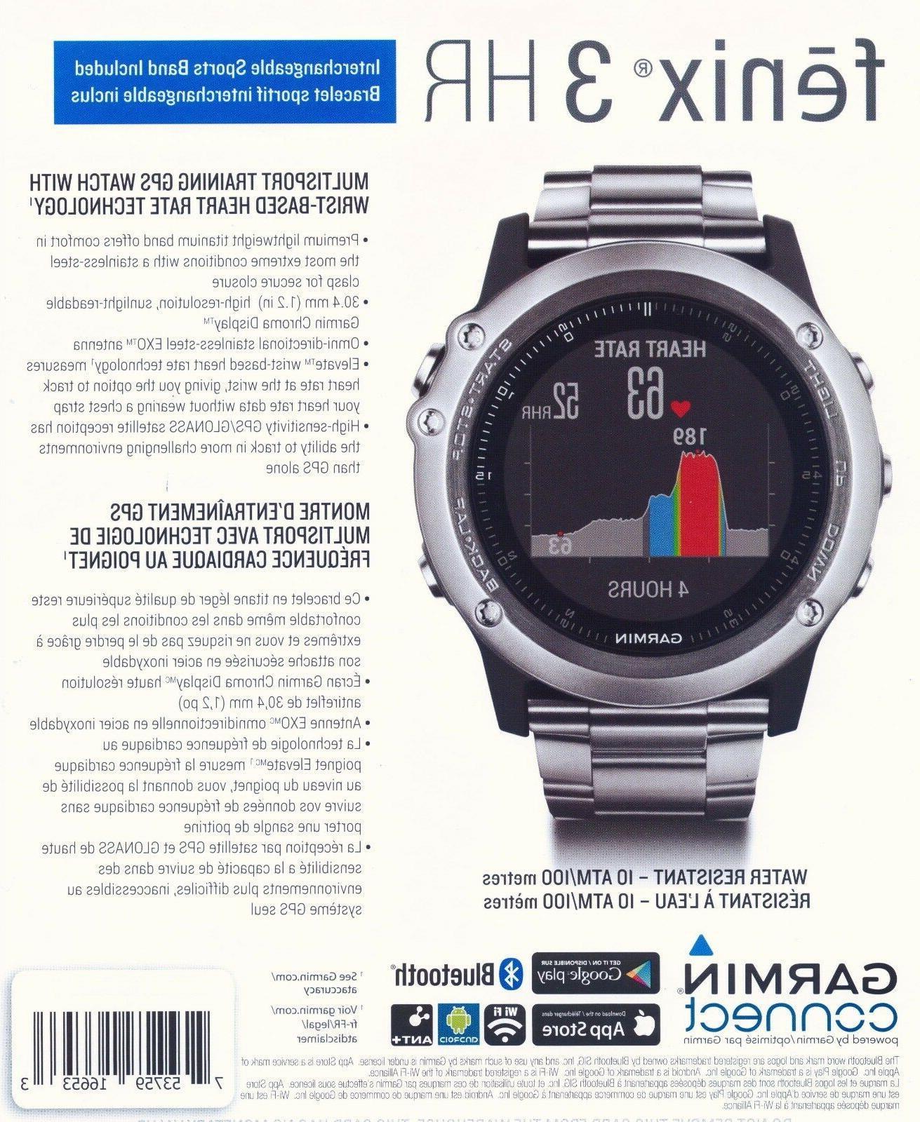 Garmin Wrist Titanium Multi-Sport GPS Smart Watch NEW