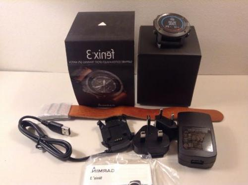 Garmin Fenix 3 Edition Multi-Sport Watch - Gray 2 Bands