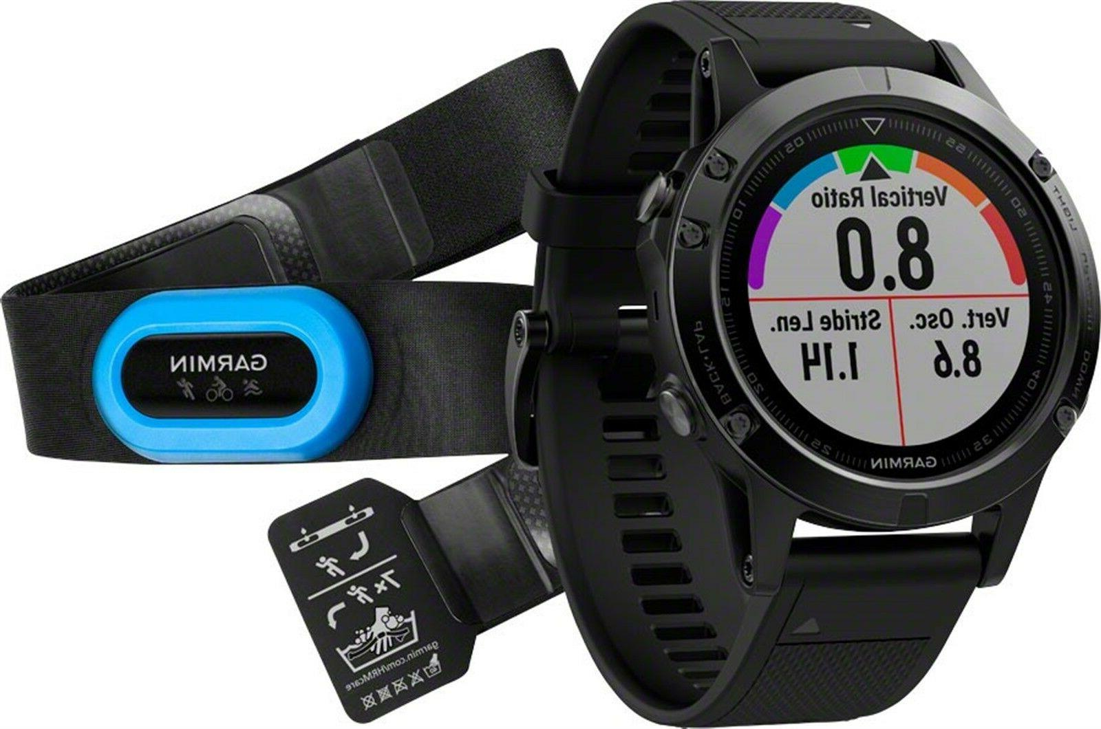 NEW Garmin Fenix 5 Sapphire Performance Bundle GPS Watch  01
