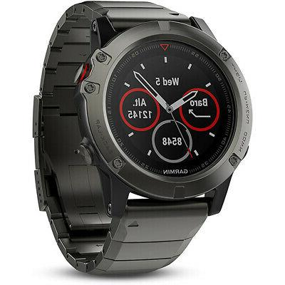 Garmin Fenix 5 Sapphire Multisport 47mm GPS Watch - Slate Gr