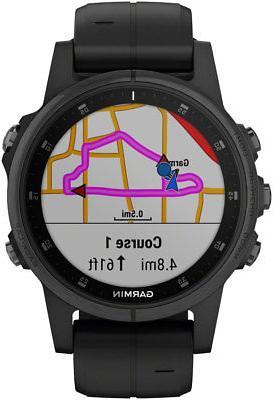 Garmin Fenix Sapphire GPS Smart Watch Black Band