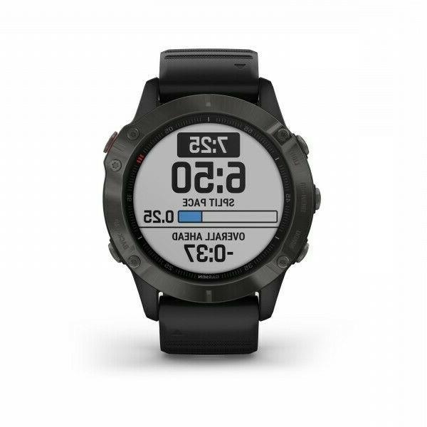Garmin 6 GPS Watch Carbon Gray DLC with 010-02158-10