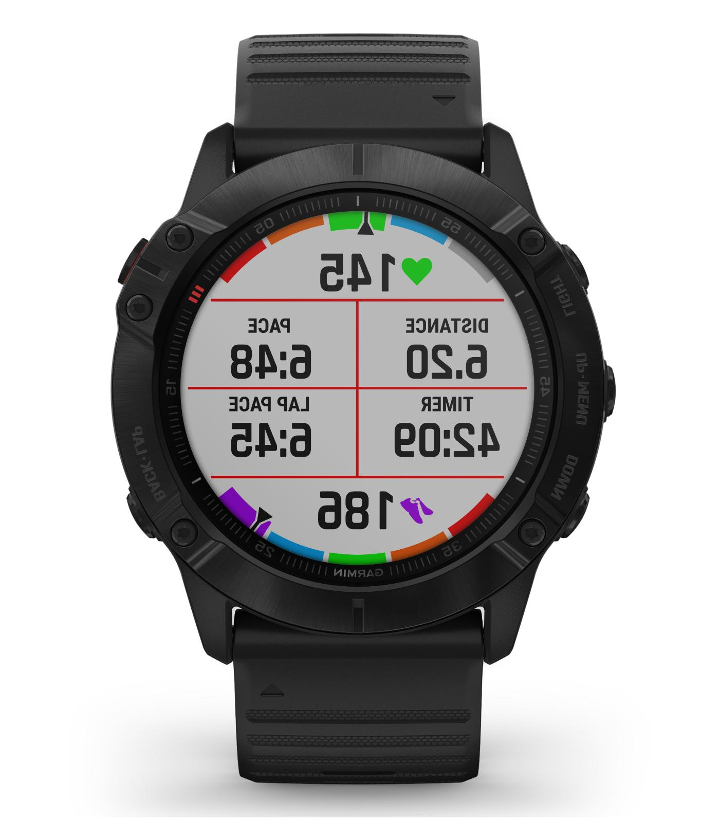 Garmin 6X GPS Multisport Black Black Band