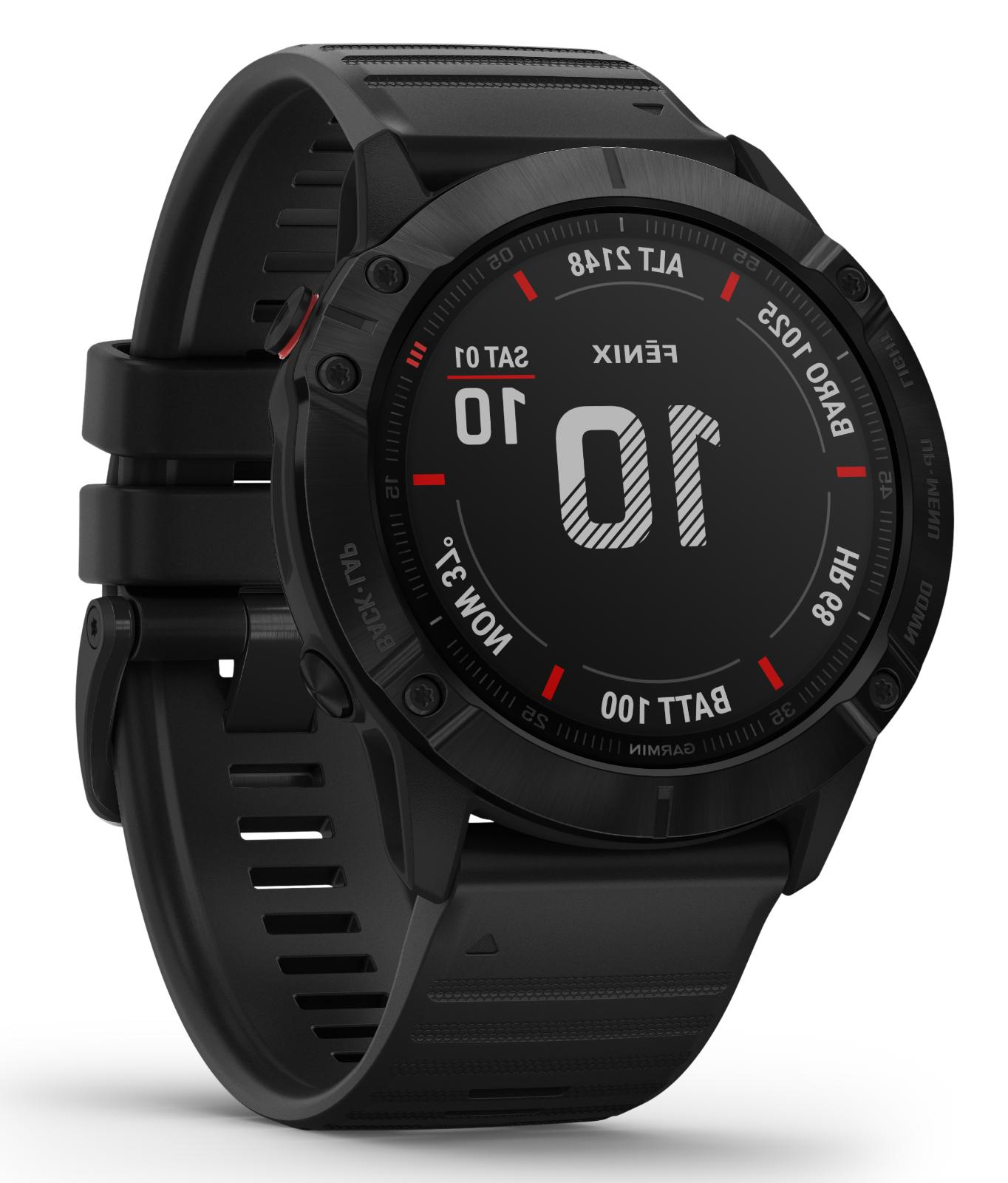 fenix 6x gps multisport watch pro black